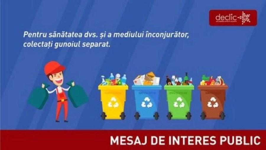 La Păuleşti se introduce colectarea selectivă a deşeurilor de la cetăţeni, din luna decembrie