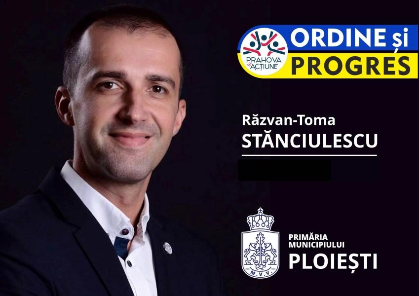 """Partidul """"Prahova în Acţiune"""" anunţă candidatul la Primăria Ploieşti: Răzvan-Toma Stănciulescu"""