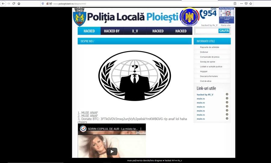 Site-ul Poliţiei Locale Ploieşti şi încărcat cu mesaje obscene (+18 ani)