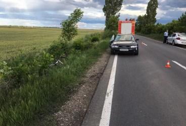 Biciclist mort în accident de maşină, pe şoseaua Ciorani-Albeşti