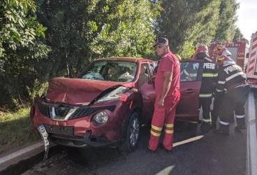 Dublu accident pe Centura de Est, în satul Moara Nouă