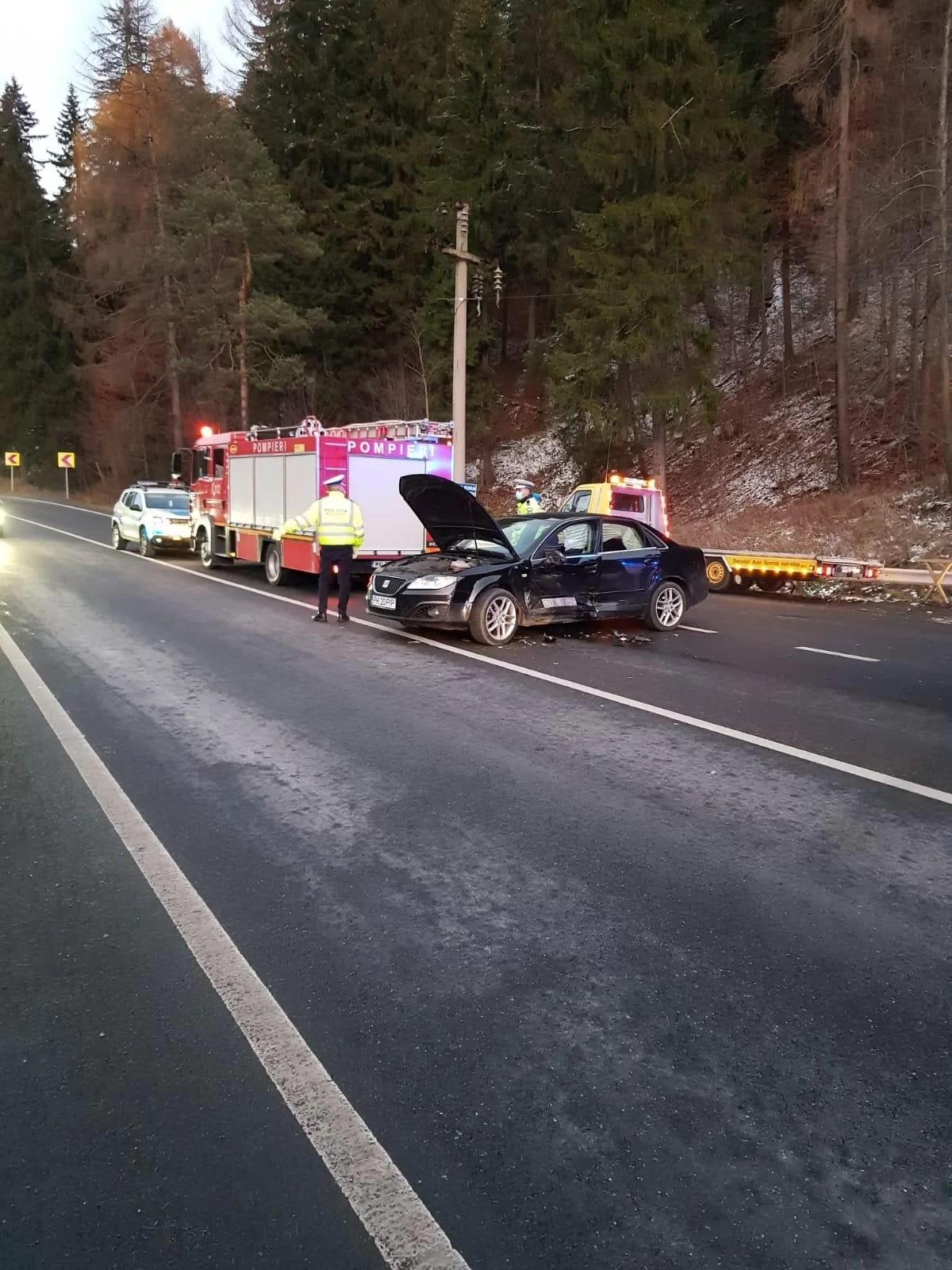 Imagini de la accidentul din Azuga, de pe DN1