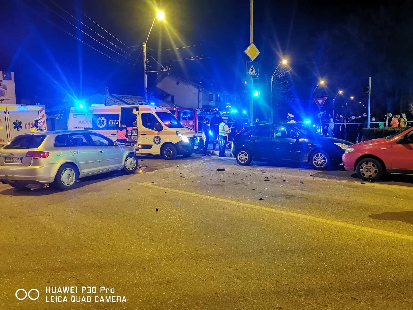"""Copil de 10 ani, a """"zburat"""" din maşină în urma unui accident la Cioceanu"""
