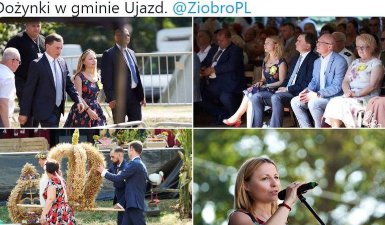 Minister Ziobro na kolejnych dożynkach. Na pytania dziennikarzy nie odpowiada. Teraz interesuje się zbiorem buraków?