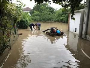 Intervenții pentru a evita inundațiile în Slatina