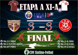 Fotbal: FC Voluntari II - CSM Slatina 3-3 (1-1)