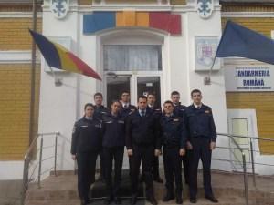 Viitorii jandarmi, în practică la IJJ Olt