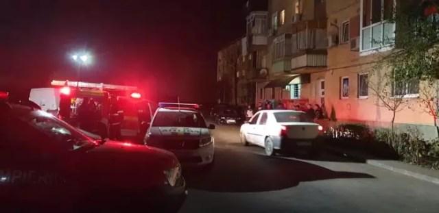 explozie-bloc-noaptea_Slatina Accident rutier cu victime rănite grav