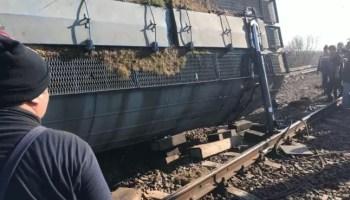 marfare Accident feroviar, 15 vagoane ale unui tren au deraiat