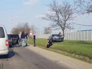 Accident rutier cu patru mașini implicate