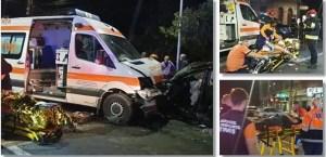Accident MORTAL între o ambulanță și o autoutilitară: două decese