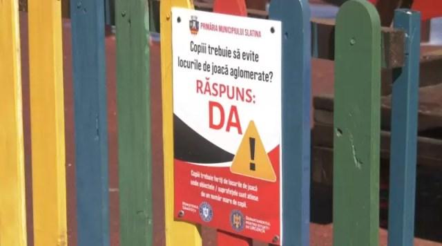 avertisment-spații-copii Siguranța copiilor, prioritate zero pentru Primăria Slatina