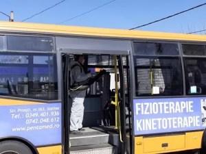 Autobuzele Loctrans sunt dezinfectate zilnic