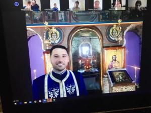 Preotul Ionuț Cîrstea a ținut o slujbă specială pentru elevii de la 'George Poboran'