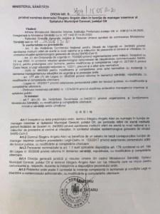 Spitalul din Caracal are manager numit de ministrul Tătaru