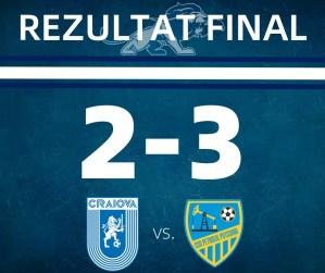 Universitatea II Craiova – CSO Petrolul Potcoava, scor 2-3