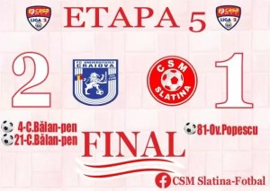 CSM Slatina, pierde în fața formației U Craiova