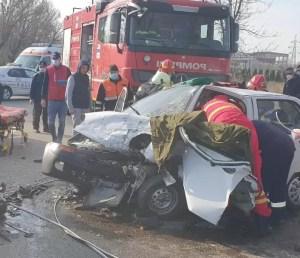 Accident cumplit la ieșire din Balș