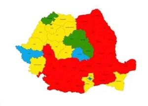Harta politică a României după alegerile parlamentare