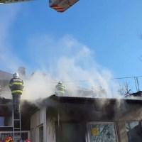 Slatina: magazin de articole funerare, în flăcări
