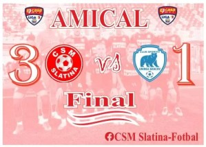 Fotbal: CSM Slatina - Unirea Bascov 3-1