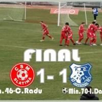 Fotbal: CSM SLATINA – FARUL CONSTANŢA 1-1
