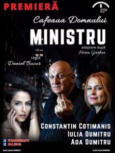 """Spectacolul de teatru """"Cafeaua domnului ministru"""", pe scena Centrului Cultural """"Eugen Ionescu"""""""