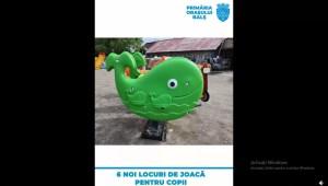 6 locuri de joacă noi pentru copiii din Balș