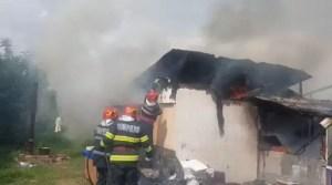 Incendiu puternic în Caracal