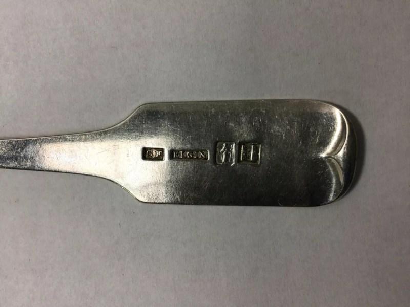 Marcas de cuchara de plata de Elgin
