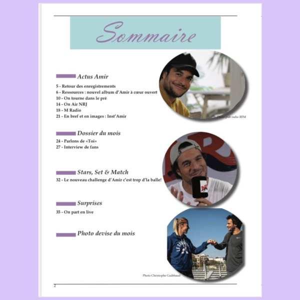 sommaire du magazine Amir septembre 2020