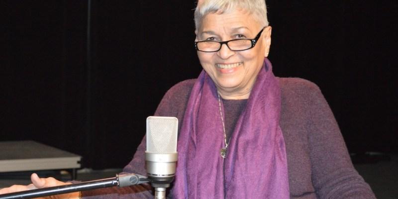 Pamela Mordecai smiling in DELTS studio.