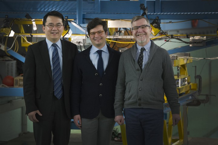 From left are Drs. Wei Qui, Lorenzo Moro and David Molyneux.