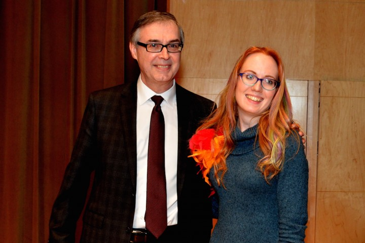 Paul McDonald of Cox & Palmer pictured with Katie Vautour, recipient of the 2016 Cox & Palmer SPARKS Creative Writing Award