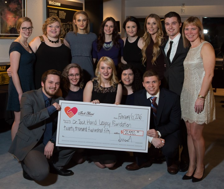Engineering Society A presented a $20,550 cheque to the Jack Hand Legacy Foundation during its annual Charity Ball.