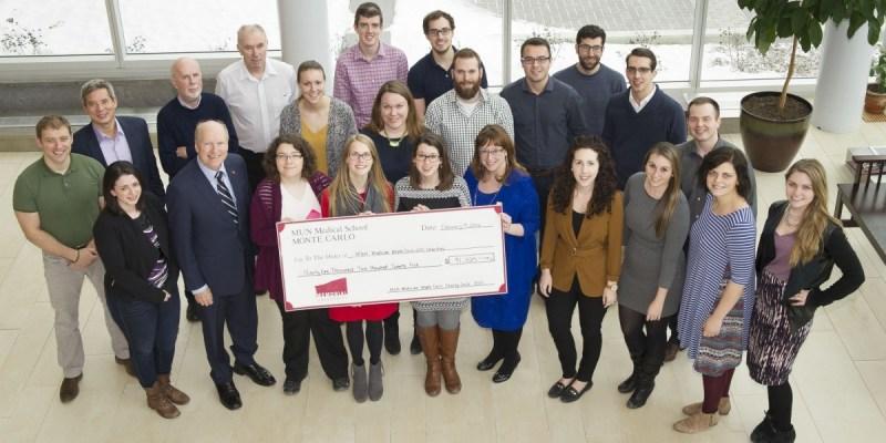 Monte Carlo charity cheque presentation