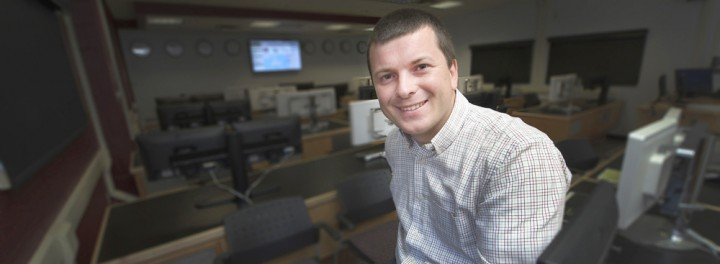 A photo of Dr. Roman Lukanenko, whose PhD research and thesis have won him international awards.