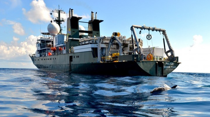 Dr. John Jamieson is currently aboard the R/V Falkor near Fiji in the South Pacific Ocean.