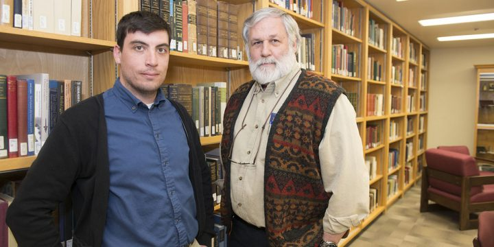 From left are graduate student John Matchim and Dr. Jim Connor.