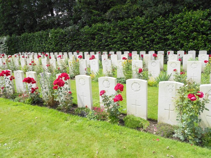 Berks Cemetery in Belgium, resting place of Lieut.-Cpl. Thomas Eustace of Torbay, N.L.