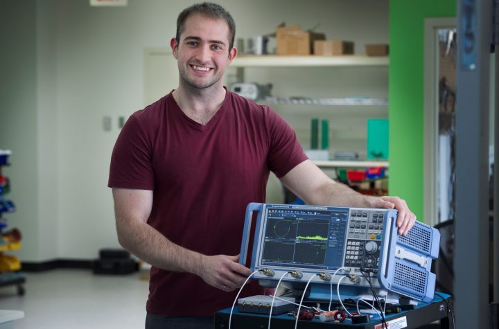 Paul Arsenault, a graduate of the Faculty of Engineering and Applied Science, works with Solace Power.