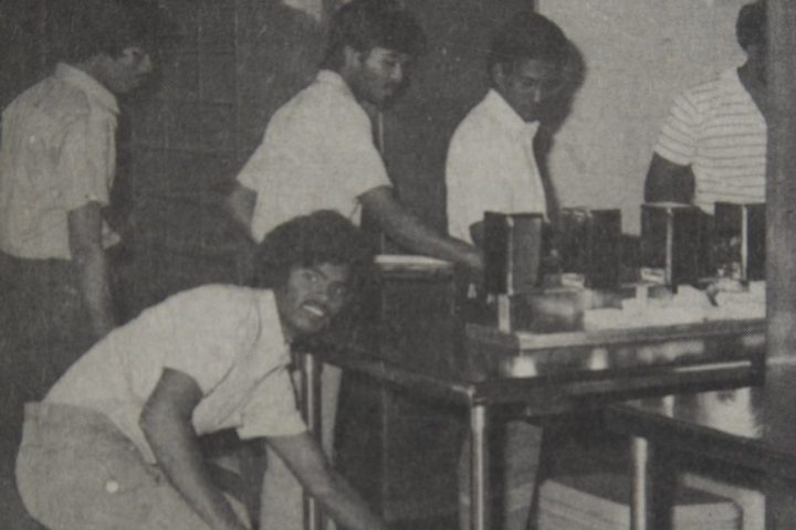 A photo of some of the Tamil refugees staying at Paton College that in the appeared in the Aug. 28, 1986, issue of the Gazette.