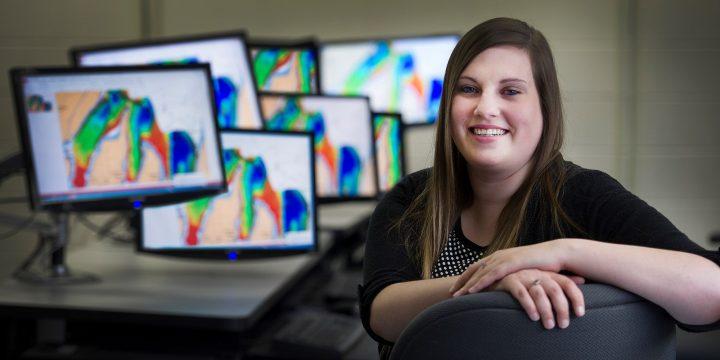 Dawn Roche in MI's computer lab.