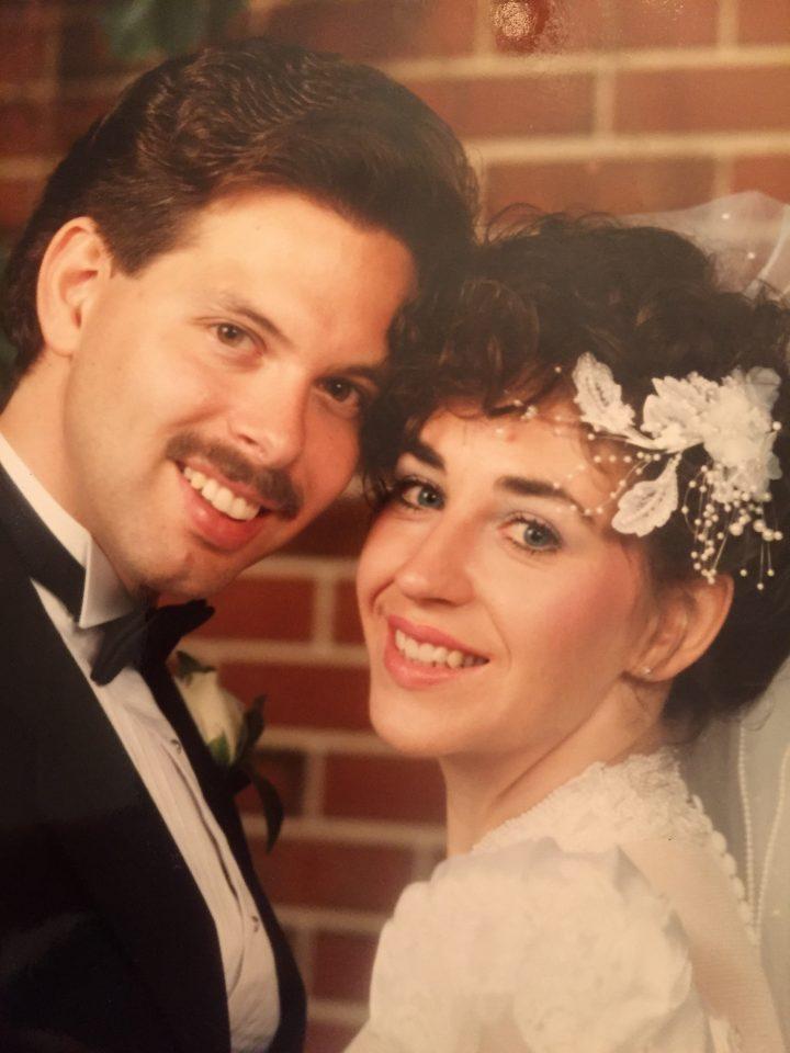 Chris Kubash and Elizabeth Turnbull on their wedding day.