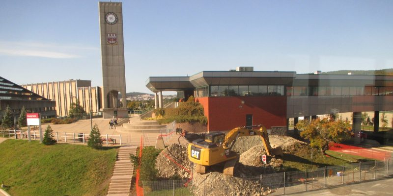 Construction ongoing at west pedway