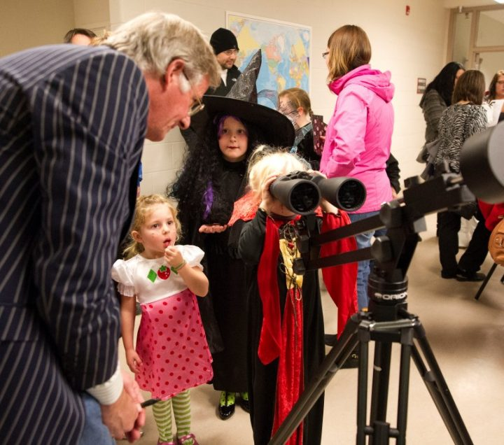 Costumes and telescopes at Grenfell Campus.