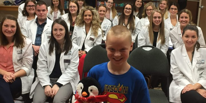 Colby Ryan speaks to pharmacy students about fighting type 1 diabetes.