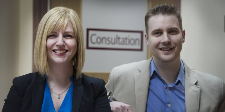 Dr. Debbie Kelly (left) and Dr. Jason Kielly.