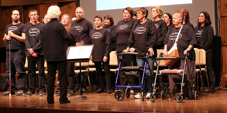 Stella's Circle Inclusion Choir in performance.