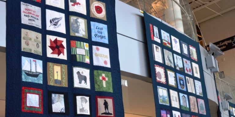 Part of the Piece by Peace quilt exhibition.